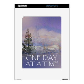 One Day at a Time Trees Hills Snow iPad Decal
