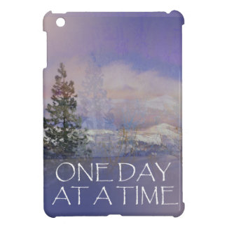One Day at a Time Trees Hills Snow iPad Mini Cover