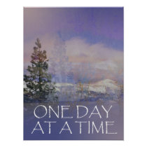 One Day at a Time Trees Hills Snow Poster