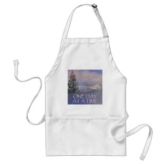 One Day at a Time Tres Hills Snow Adult Apron