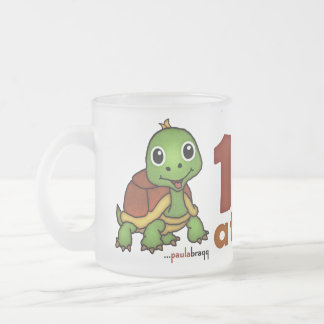 One Day at a Time -Turtle Frosted Glass Coffee Mug