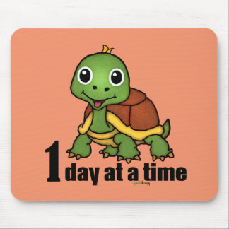 One Day at a Time -Turtle Mouse Pad