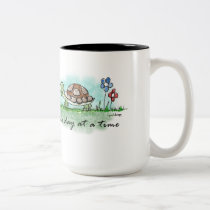 One Day at a Time Two-Tone Coffee Mug