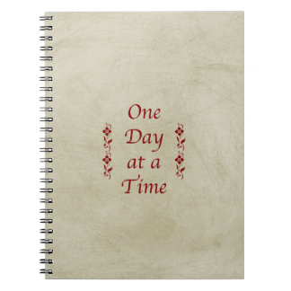 One Day at a Time-Vintage Look Notebook