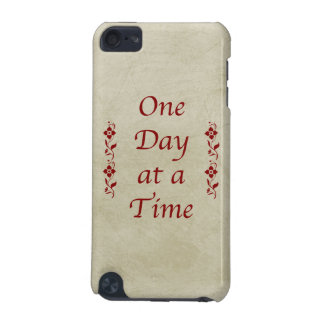 One Day at a Time-Vintage with Red Floral Accents iPod Touch 5G Cover