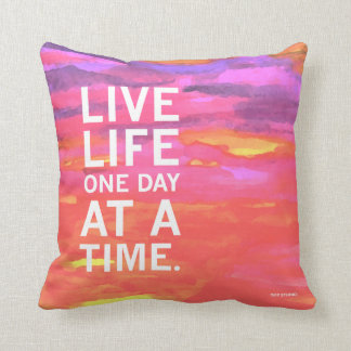 One Day At A Time Water Color Pillow