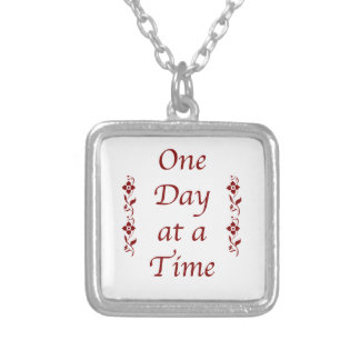 One Day at a Time-with Burgundy Detail Necklace