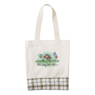 One Day at a Time Zazzle HEART Tote Bag