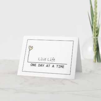 one day at at time card