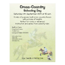 One day event or x country training flyer