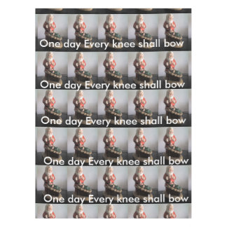 One Day Every Knee shall Bow Christmas Table Cloth Tablecloth