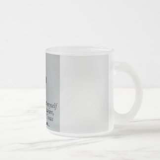 One day I caught myself Smiling Frosted Mug
