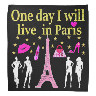 ONE DAY I WILL LIVE IN PARIS BANDANA