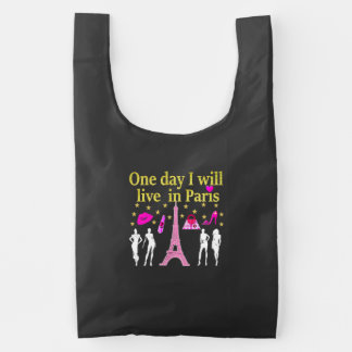 ONE DAY I WILL LIVE IN PARIS REUSABLE BAG