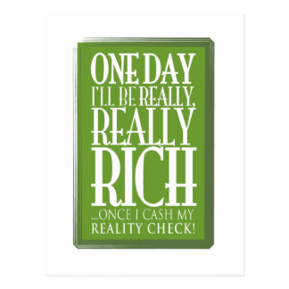 One day I'll be really, really rich Postcard