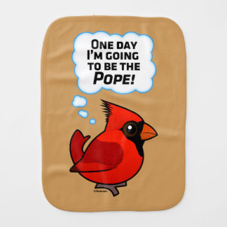 One Day I'm Going to Be the Pope! Baby Burp Cloth