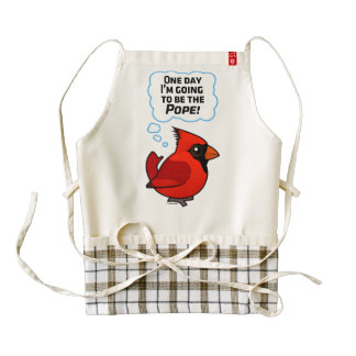 One Day I'm Going to Be the Pope! Zazzle HEART Apron