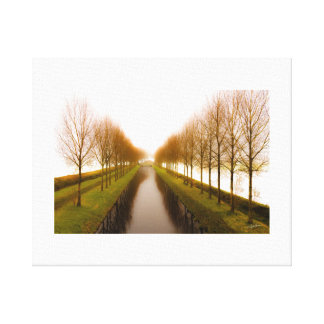 ONE DAY IN WHITE SATIN - Canvas print