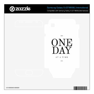 One Day Inspiring Quote White Black Gifts Skin For Samsung Galaxy S