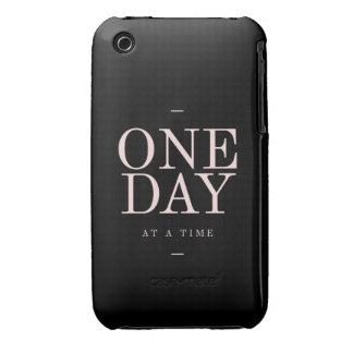 One Day - Inspiring Quotes Black Pink Goals iPhone 3 Case