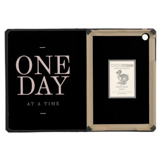 One Day - Inspiring Quotes Black Pink Goals iPad Mini Retina Cover