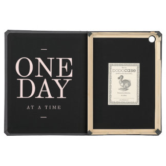 One Day - Inspiring Quotes Black Pink Goals iPad Air Cases