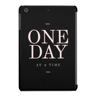 One Day - Inspiring Quotes Black Pink Goals iPad Mini Covers