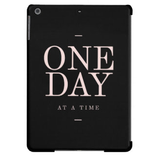 One Day - Inspiring Quotes Black Pink Goals Cover For iPad Air