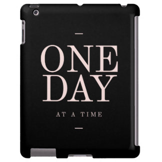 One Day - Inspiring Quotes Black Pink Goals