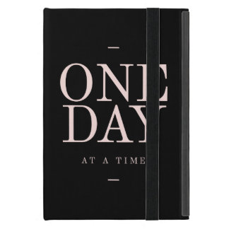 One Day - Inspiring Quotes Black Pink Goals iPad Mini Case