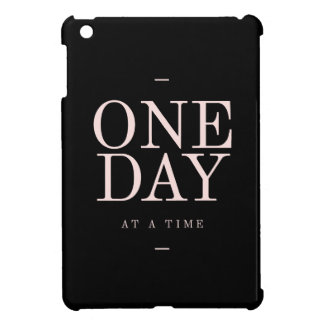 One Day - Inspiring Quotes Black Pink Goals iPad Mini Cover