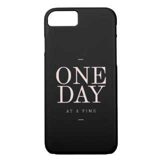 One Day - Inspiring Quotes Black Pink Goals iPhone 8/7 Case