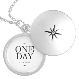 One Day Inspiring Sobriety Quote White Black