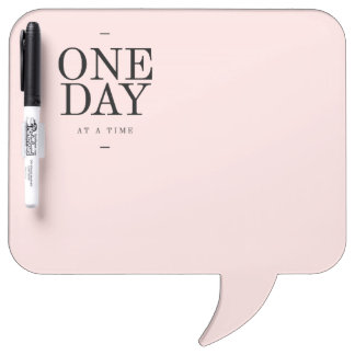One Day Motivational  Goals Quote Blush Pink Gift Dry Erase Board