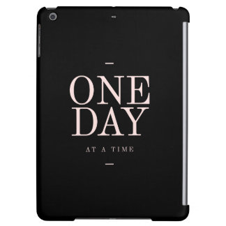 One Day - Motivational Quote Black Pink Goals iPad Air Case