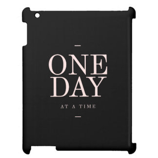 One Day - Motivational Quote Black Pink Goals iPad Case