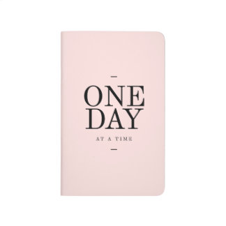 One Day Motivational Quote Journal Pink Black Gift