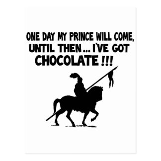 One day my prince will come postcard