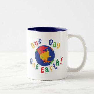 One Day One Earth Two-Tone Coffee Mug