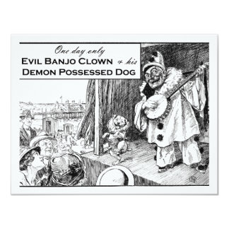 One Day Only: Evil Banjo Clown Card