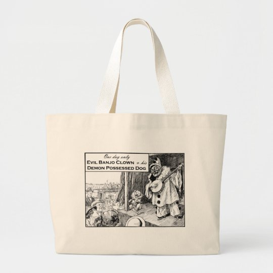 One Day Only: Evil Banjo Clown Large Tote Bag