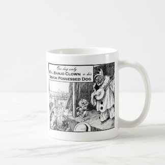 One Day Only: Evil Banjo Clown Classic White Coffee Mug