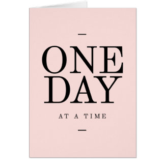 One Day Perseverance Quote Blush Pink Gift Card