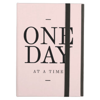 One Day Perseverance Quote Blush Pink Gift Case For iPad Air