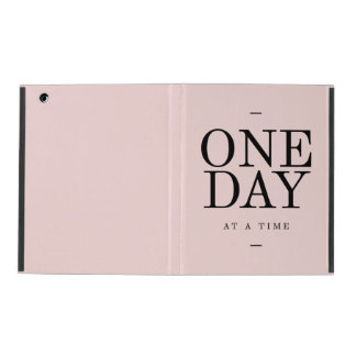 One Day Perseverance Quote Blush Pink Gift iPad Cases
