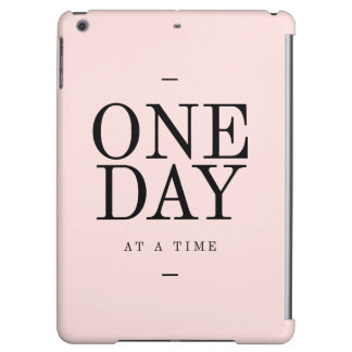 One Day Perseverance Quote Blush Pink Gift iPad Air Case