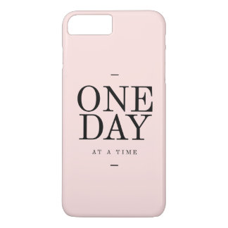 One Day Perseverance Quote Blush Pink Gift iPhone 7 Plus Case