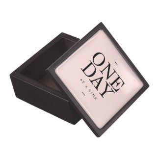 One Day Perseverance Quote Blush Pink Gift Jewelry Box
