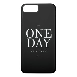 One Day Student Motivational Quote Black and White iPhone 8 Plus/7 Plus Case