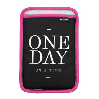 One Day Study Motivational Quote Black and White Sleeve For iPad Mini